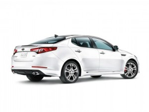 white 2013 Kia Optima Limited SX